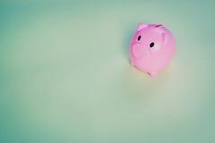 Rosa Piggy myntbank Arkivbild