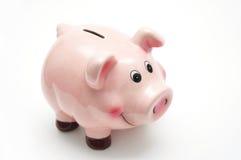 Rosa piggy Querneigung Lizenzfreies Stockfoto