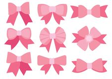 Rosa pilbågedesign på vit bakgrund vektor illustrationer