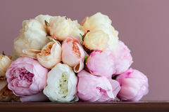 Rosa pionbukett Royaltyfria Foton