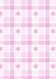 rosa pläd Royaltyfria Bilder