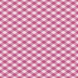 rosa pläd för gingham Arkivfoton