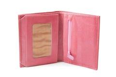 rosa plånbok royaltyfria bilder