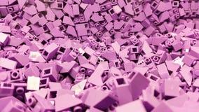 Rosa plast- kvarter Royaltyfri Foto