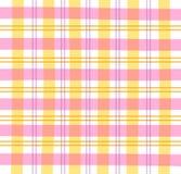 rosa pläd för gingham Arkivbilder