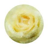 Rosa poligonal geométrica abstrata do branco. Imagem de Stock