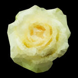 Rosa poligonal geométrica abstrata do branco. Fotografia de Stock