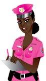 rosa poliskvinna Arkivbild