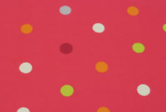 Rosa polka Dots Background Arkivbild