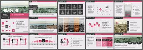 Rosa presentationsbakgrunder för datorskärmar Royaltyfri Bild