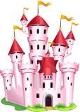 rosa princess för slott royaltyfri illustrationer