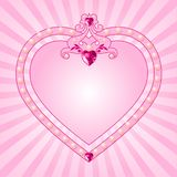 rosa princess för ram Fotografering för Bildbyråer
