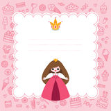 Rosa prinsessakort Royaltyfri Bild