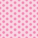 Rosa Punkte in den Linien stock abbildung