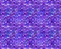 Rosa Purpur, das spielerisches Meerjungfrau-Fischschuppe-Muster wiederholt Lizenzfreies Stockbild
