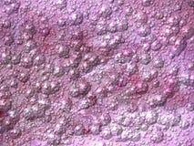 Rosa purpurfärgad metallisk bakgrund med bubblor Dator frambragd textur med den präglade strukturen Fotografering för Bildbyråer