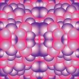 Rosa purpurfärgad vit psykedelisk bakgrund för kalejdoskopkonstillustration Royaltyfri Fotografi