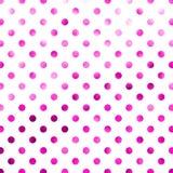 Rosa purpurrote Polka Dot Pattern Digital Paper Lizenzfreies Stockfoto