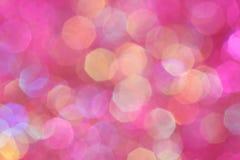 Rosa, Purpurrote, weiße, Gelbe und des Türkises weiche Lichter extrahieren Hintergrund Stockfotos