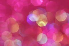 Rosa, Purpurrote, weiße, Gelbe und des Türkises weiche Lichter extrahieren Hintergrund Lizenzfreie Stockfotos
