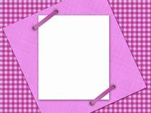 Rosa quadrierte Hintergrund Stockbild