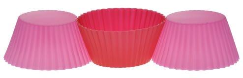 rosa röda omslagspapper för muffin Royaltyfri Bild