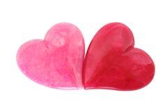 rosa red för hjärtor arkivfoton