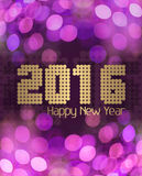 Rosa reluciente de la Feliz Año Nuevo 2016 Imágenes de archivo libres de regalías