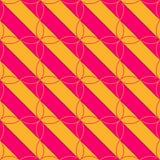 Rosa retro 3D y diagonal anaranjada con cuatro hojas Foto de archivo libre de regalías
