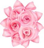 rosa ro stock illustrationer