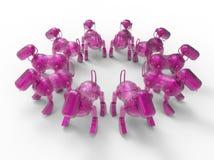 Rosa Roboterhunde stock abbildung