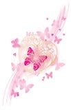 rosa romantiker för bakgrund Vektor Illustrationer