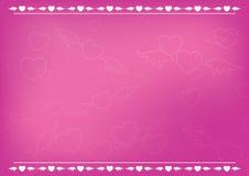rosa romantiker för korthjärtor stock illustrationer