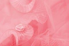 Rosa rosafarbenes Tulle Stockbilder
