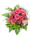 Rosa rosblommor som isoleras på vit bakgrund Royaltyfri Fotografi