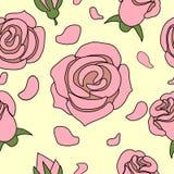 Rosa rosor Vektor Illustrationer