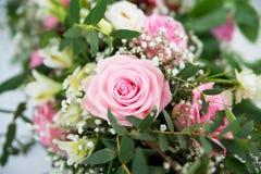 Rosa rosor med kronblad Abstrakt naturliga bakgrunder bröllop Royaltyfria Foton
