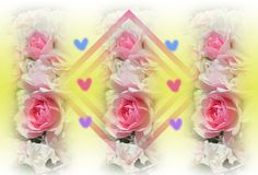Rosa rosor och färgrika hjärtor planlägger 2018 vektor illustrationer