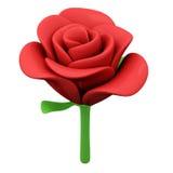 Rosa rossa, 3d Fotografia Stock