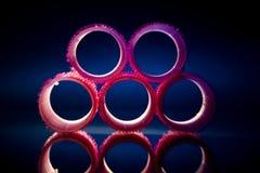 rosa rullstudio för hår Royaltyfri Foto