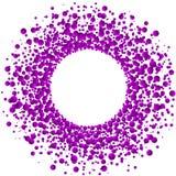 Rosa rund ram för explosiongummibollar Royaltyfri Bild
