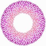 Rosa rund ram på vit bakgrund stock illustrationer