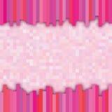 Rosa rutig bakgrund Arkivbilder