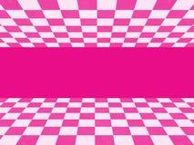 Rosa rutig textur Arkivfoto