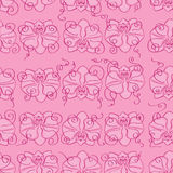 Rosa sömlös bakgrund med rosa orkidér Royaltyfri Fotografi
