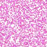 Rosa sömlös design för bakgrund för diagonalfyrkantmodell - vektordiagram Arkivfoton