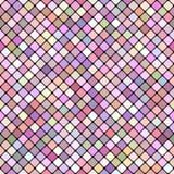 Rosa sömlös design för bakgrund för diagonalfyrkantmodell - vektordiagram Arkivbilder