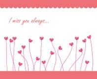 Rosa süße Karte Lizenzfreies Stockbild