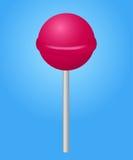 Rosa Süßigkeit lolipop. Vektorillustration. Lizenzfreies Stockfoto