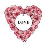 Rosa Sakura de Ramki ilustración del vector